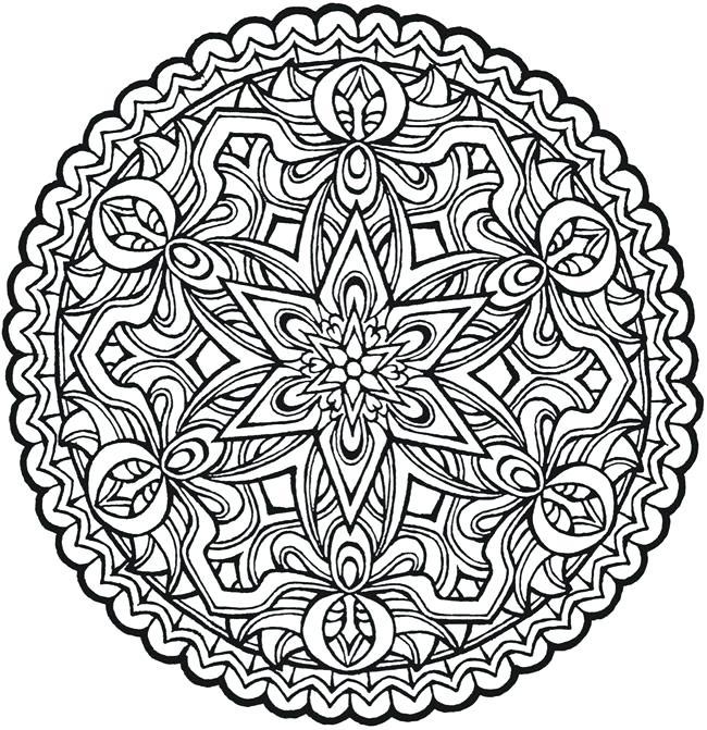 650x671 Mandala Coloring Vector Illustration Flower Mandala Coloring Page