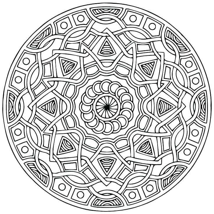 736x736 Expert Mandala Coloring Pages