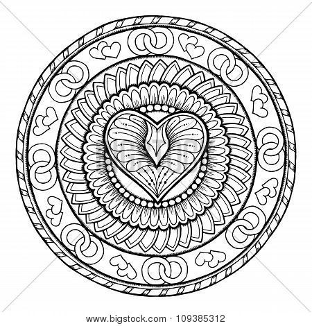 450x470 Mandala Coloring Pages Expert Level