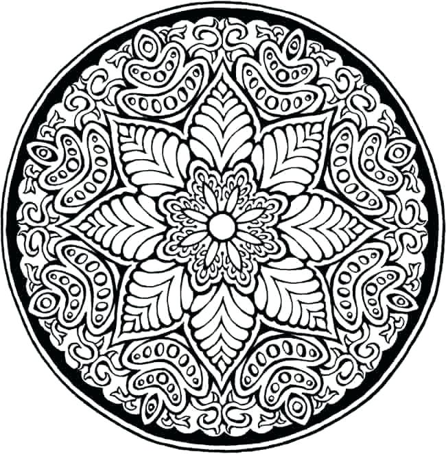 650x662 Mandala Coloring Pages Expert Level