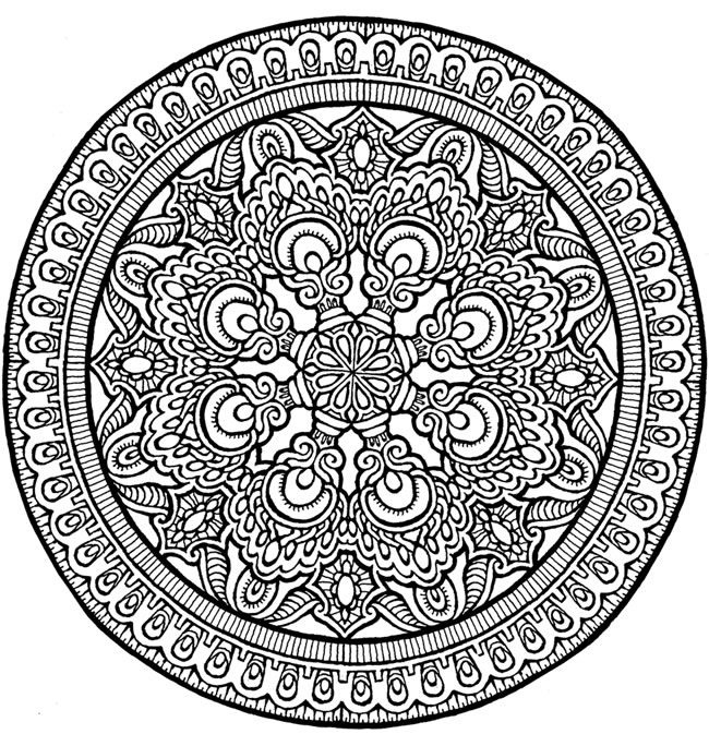 650x673 Coloring Pages Expert Level Throughout Mandala Coloring Pages