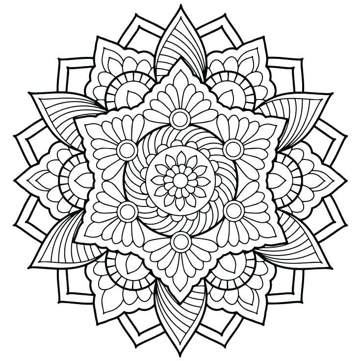 736x736 Expert Mandala Coloring Pages Coloring Mandala Coloring Pages