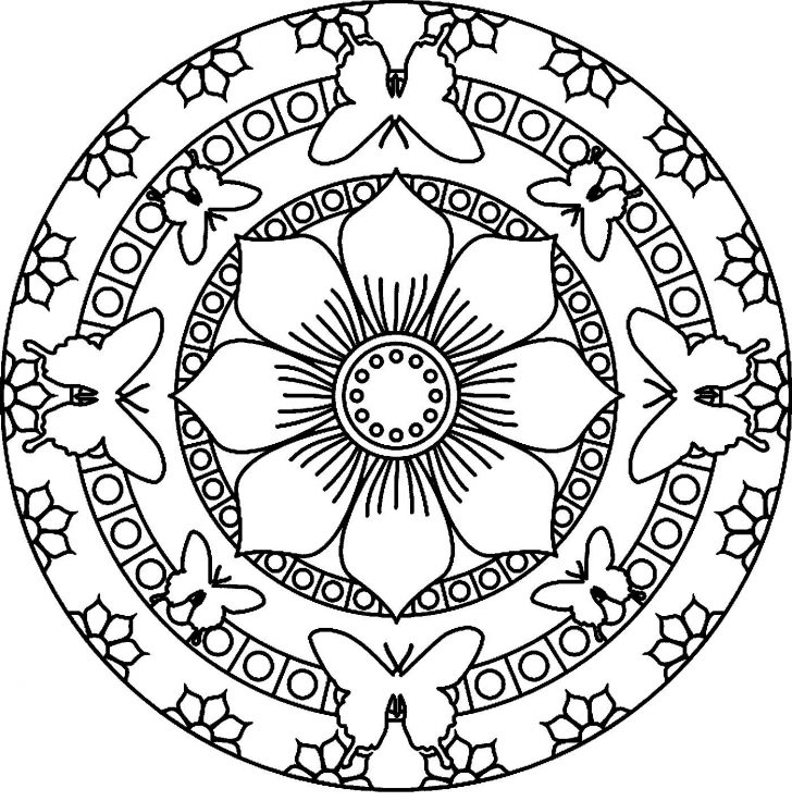 728x736 Cool Mandala Coloring Pages