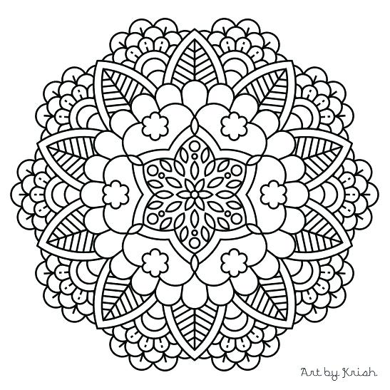 547x547 Free Mandala Coloring Pages Adult Coloring Pages Mandala Fancy