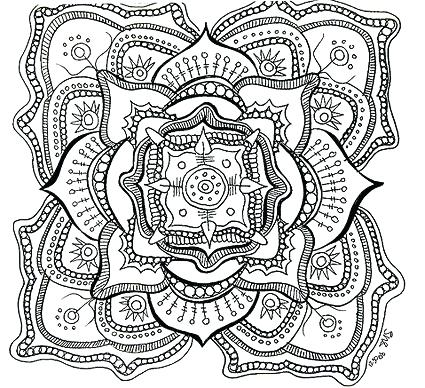 425x388 Free Printable Mandalas Coloring Pages Adults Free Printable