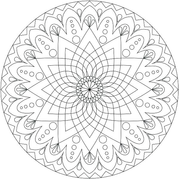 600x600 Free Printable Mandalas Coloring Pages Adults Throughout Plan