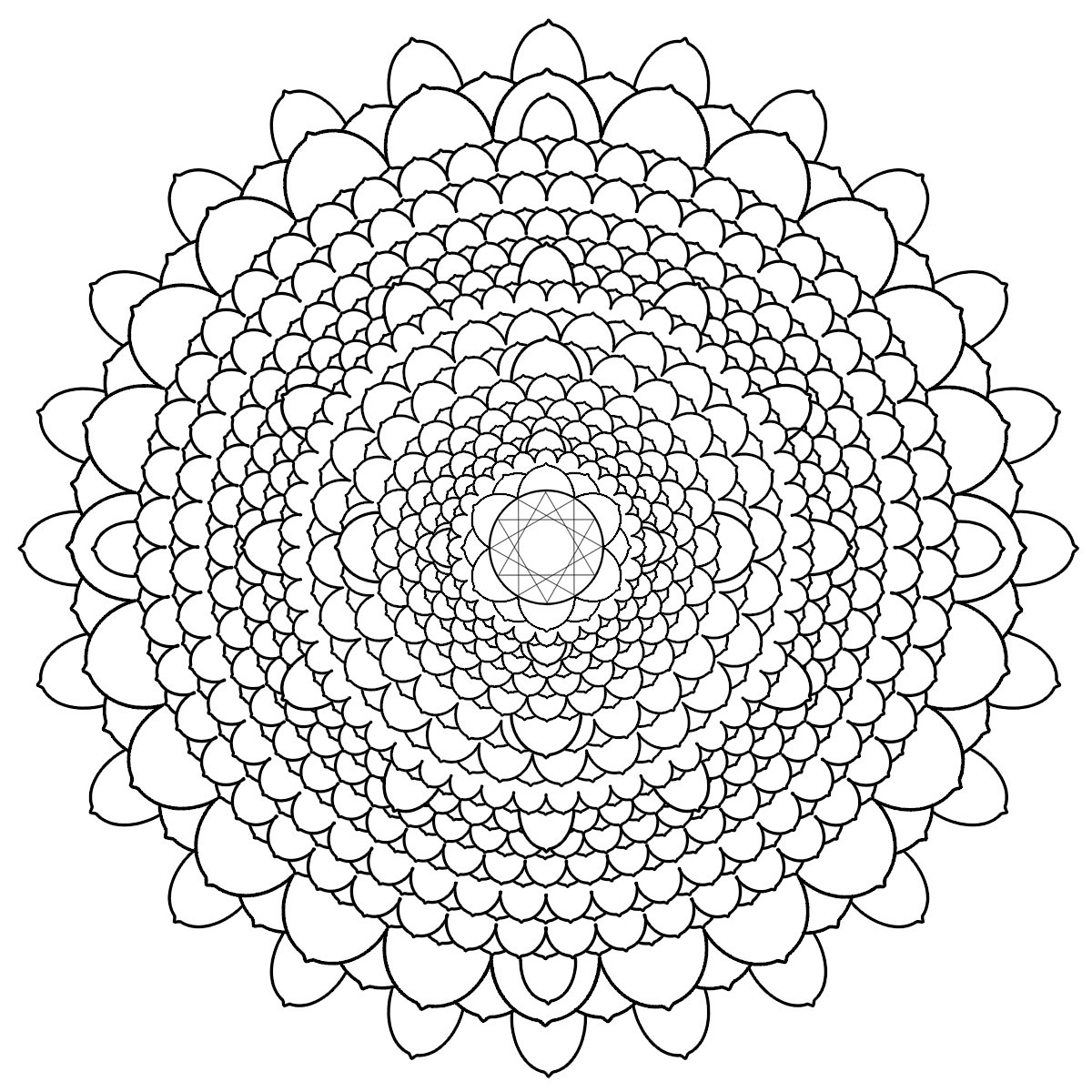 1200x1200 Free Printable Mandalas For Adults Difficult Mandala Coloring