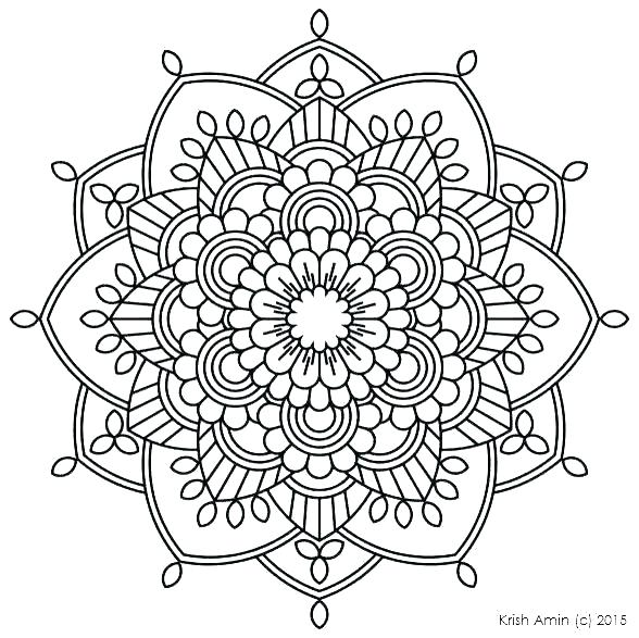 588x587 Mandala Art Coloring Pages Mandala Coloring Pages For Kids Mandala