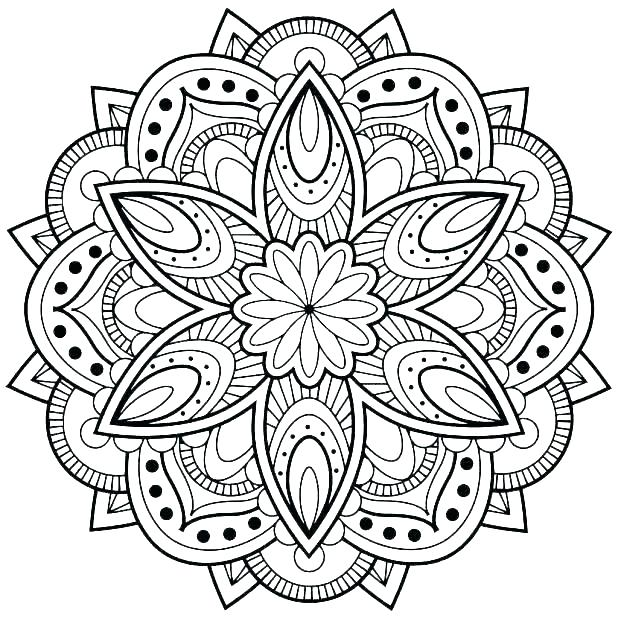 Mandala Coloring Pages For Adults At Getdrawings Com Free
