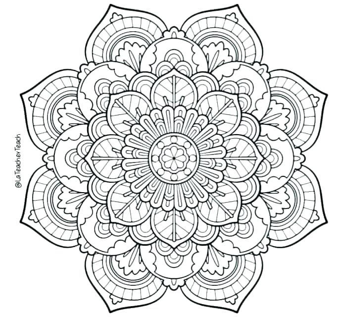 Mandala Coloring Pages For Adults at GetDrawings.com | Free ...