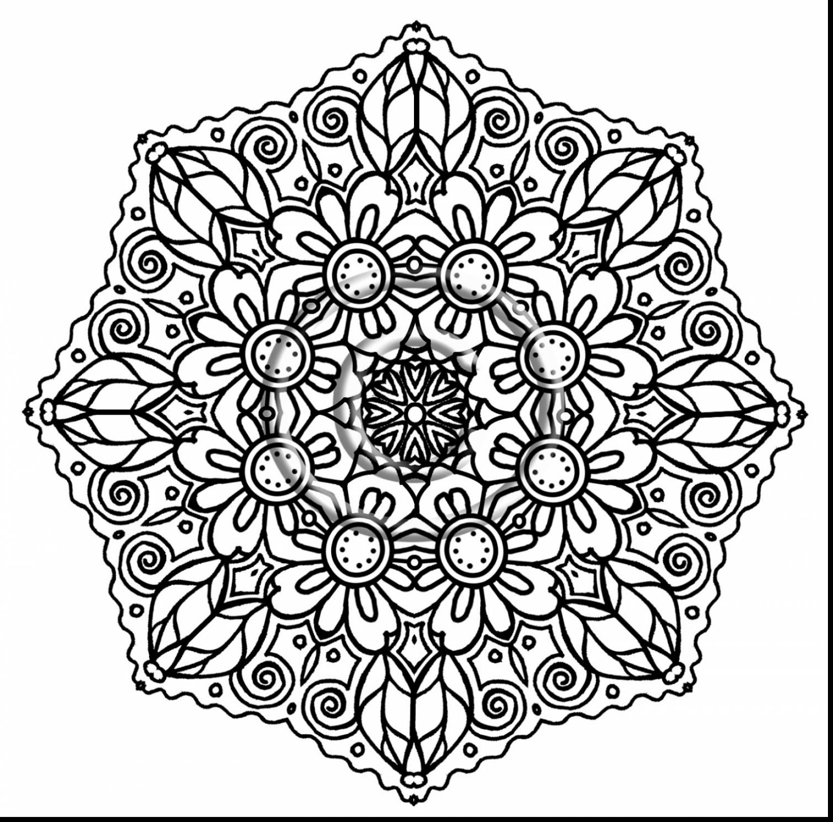 Mandala Coloring Pages For Adults Printable At Getdrawings