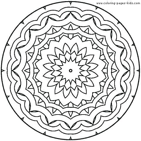 Mandala Coloring Pages For Kids at GetDrawings.com | Free ...