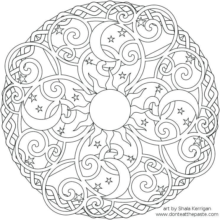 744x744 Mandala Coloring Pages Online Or Winning Free Printable Mandalas