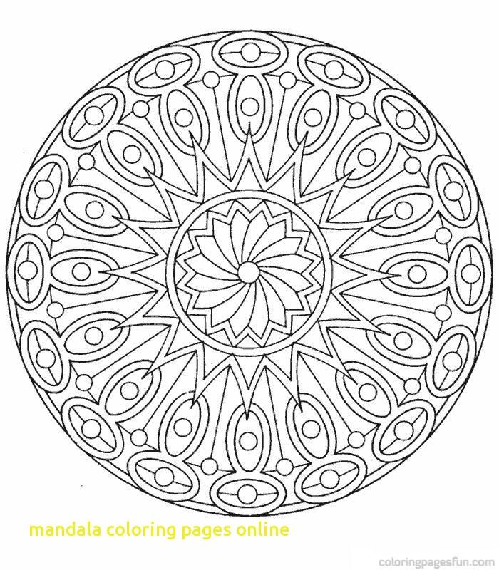 700x800 Mandala Coloring Pages Online With Mesmerizing Mandala Coloring