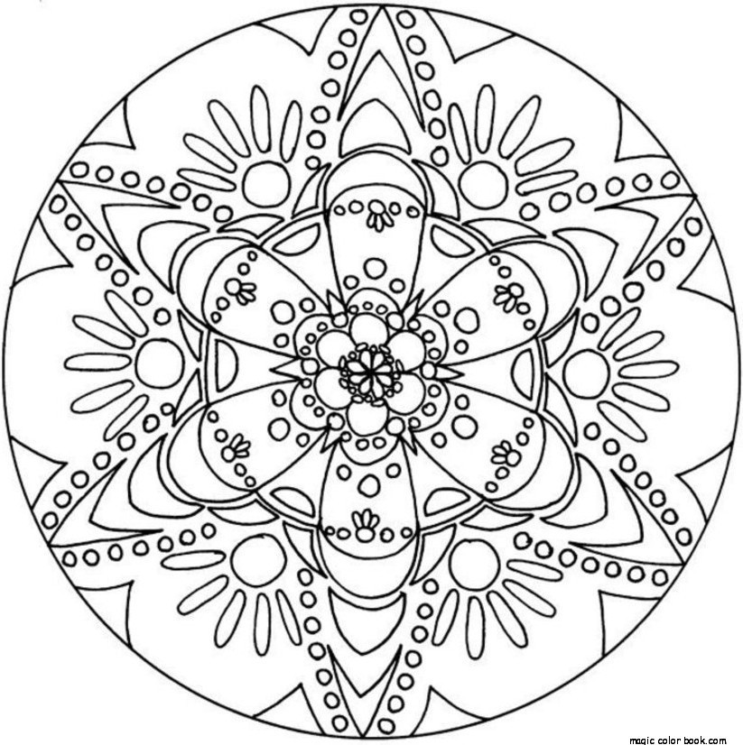 823x826 Mandala Coloring Pages Online Free