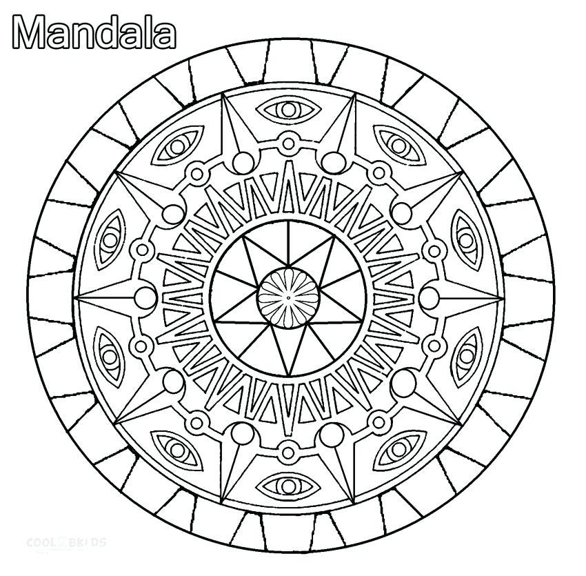 850x835 Online Mandala Coloring Pages Mandala Coloring Page Mandala