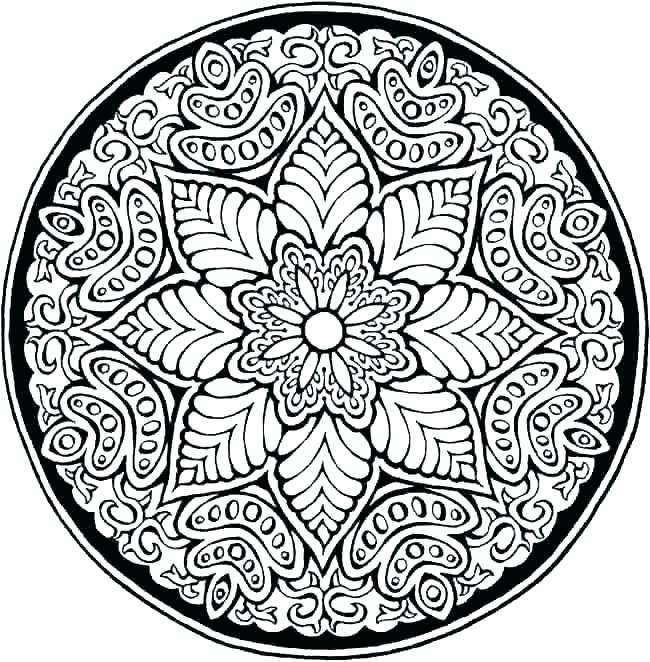 650x662 Online Mandala Coloring Pages Mandala Coloring Pages Online