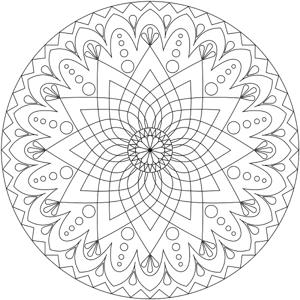 600x600 Printable Mandala Coloring Pages For Kid Mandala Coloring Pages