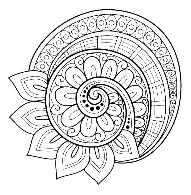 618x632 Printable Mandala Coloring Pages Mandala Coloring Pages Online