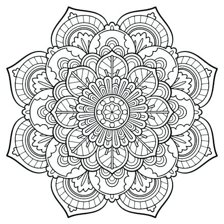 440x440 Mandala Coloring Page Free Mandala Coloring Pages Online