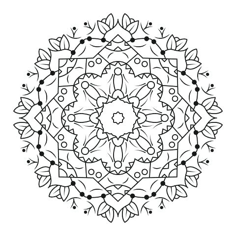 480x480 Animal Mandala Coloring Pages Online Click To See Printable