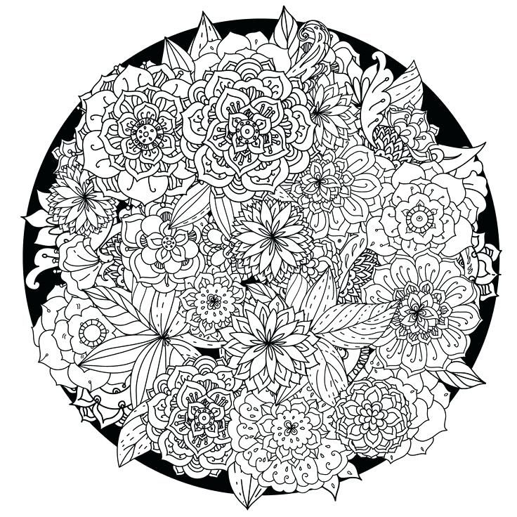 736x736 Good Intricate Mandala Coloring Pages With Additional Coloring