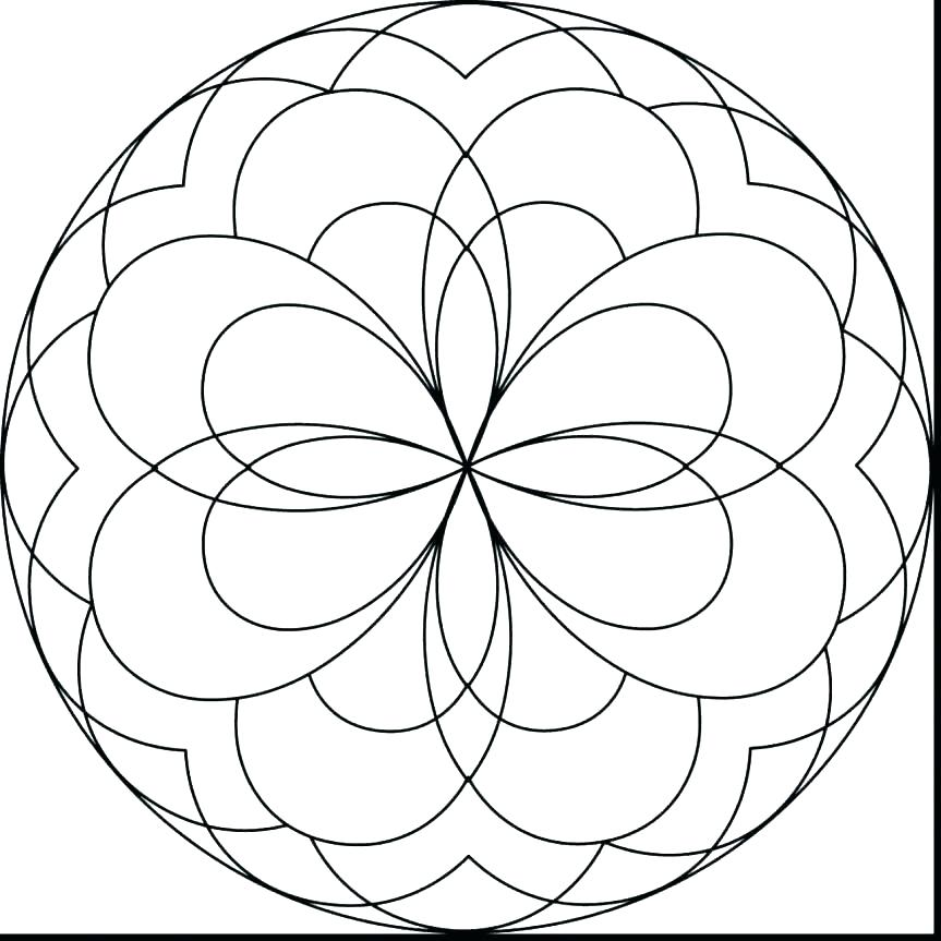 863x863 Easy Mandala Coloring Pages As Well As Easy Mandala Coloring Pages