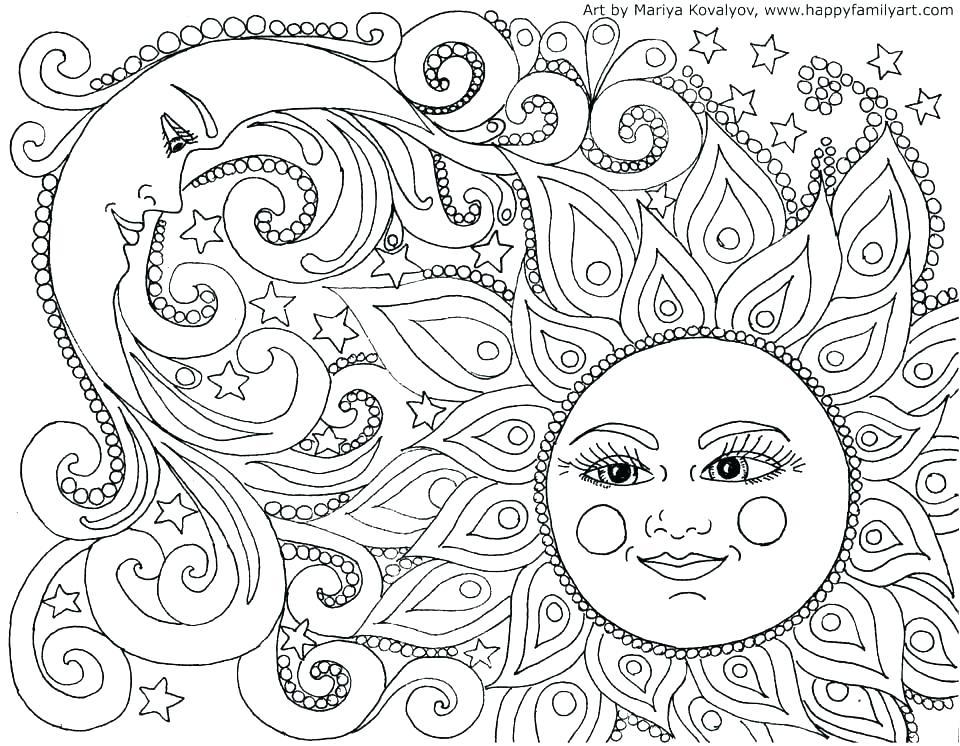 960x746 Mandala Coloring Pages Pdf Coloring Page Mandala Moon And Stars