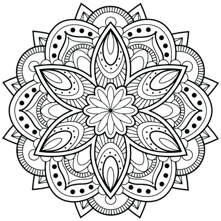 768x768 Mandala Coloring Pages Pdf Com Pertaining To Idea