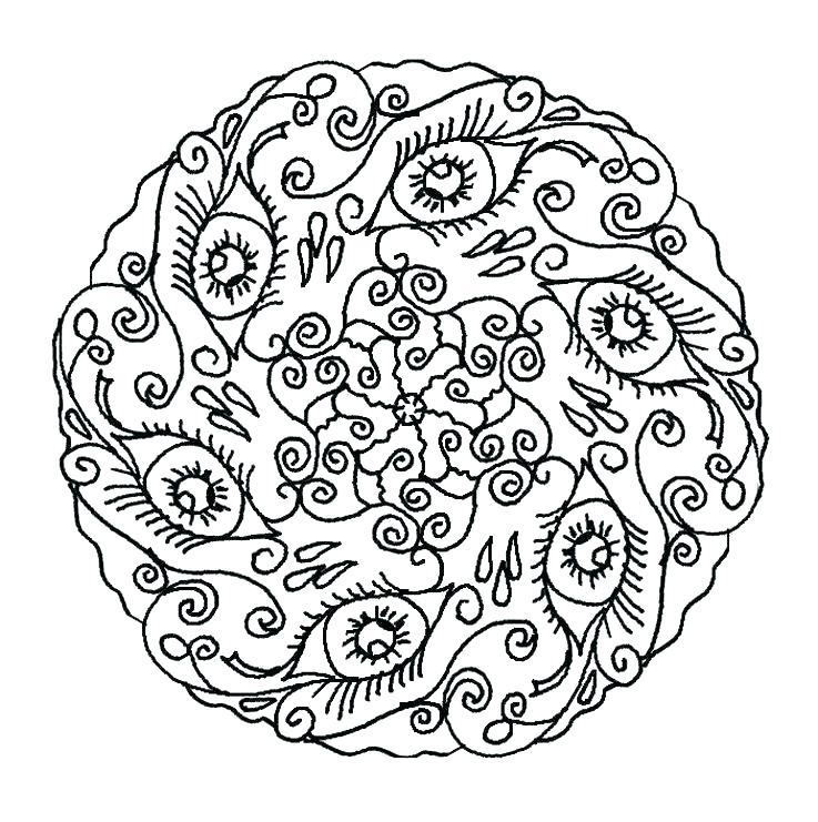 737x741 Mandala Coloring Pages Pdf Fresh Mandala Coloring Pages For Free