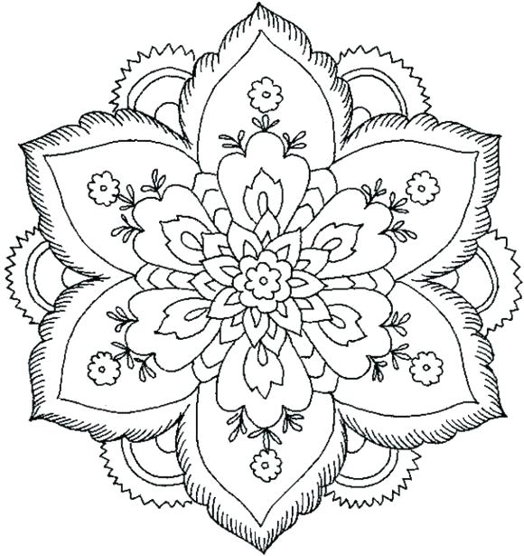 580x615 Mandala Coloring Pages Pdf Mandala Coloring Pages For Kids