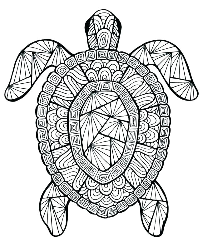 Animal Simple Mandala Animal Simple Coloring Pages For Adults - All Round  Hobby