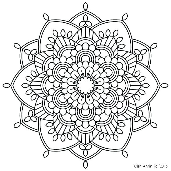 588x587 Coloring Pages For Adults Mandala
