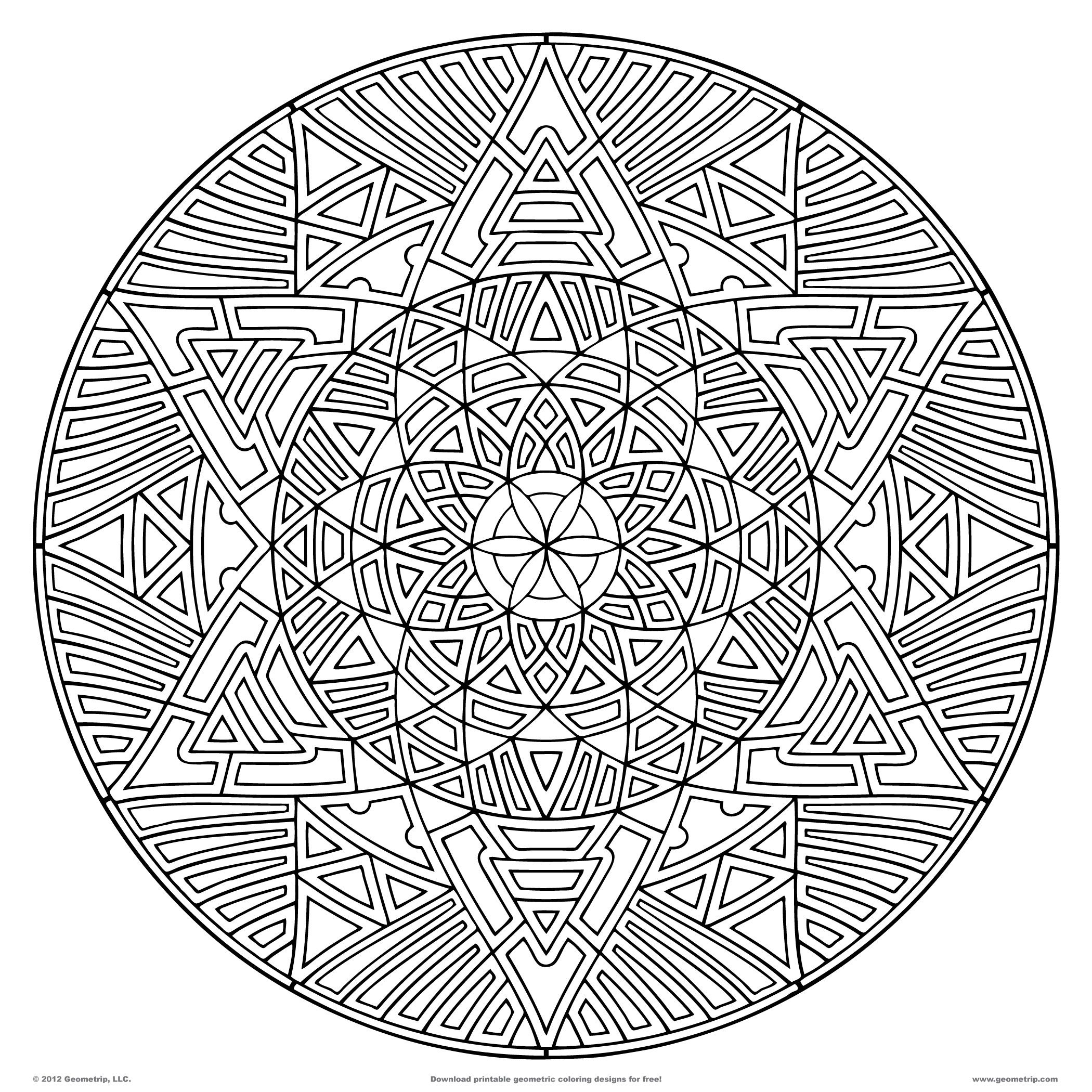 2100x2100 Geometric Coloring Pages Download Pdf Coloring Pages