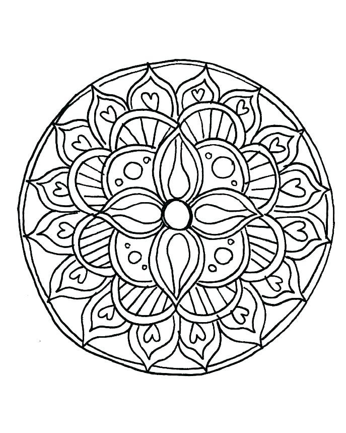 687x859 Mandala Coloring Pdf