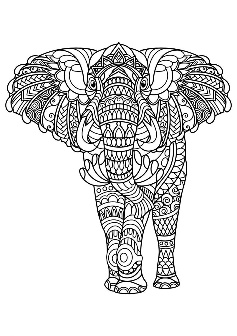 805x1138 Best Of Animal Mandala Coloring Pages Collection Printable