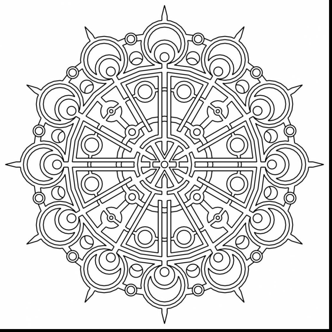 1126x1126 The Best Unbelievable Geometric Mandala Coloring Pages