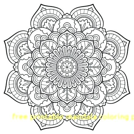Mandala Coloring Pages Pdf At Getdrawings Com Free For Personal