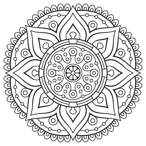 500x500 Lotus Mandala Coloring Pages Lotus Flower Coloring Page Awesome