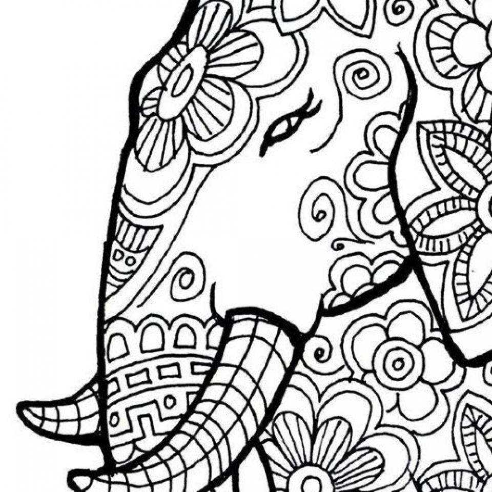 Mandala Elephant Coloring Pages