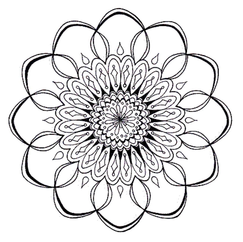 Mandala Flower Coloring Pages Difficult