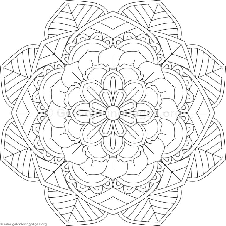 770x770 Flower Mandala Coloring Pages Lotus Flower Coloring Page Flower