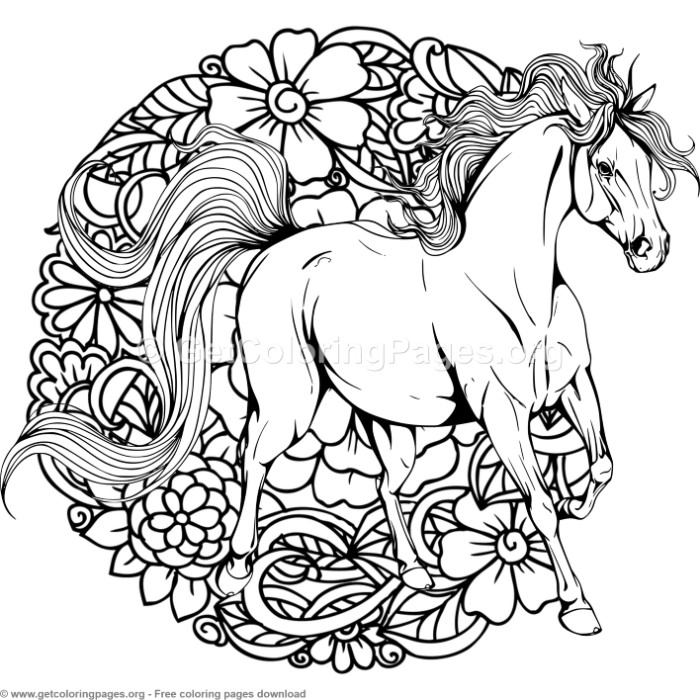 Mandala Horse Coloring Pages