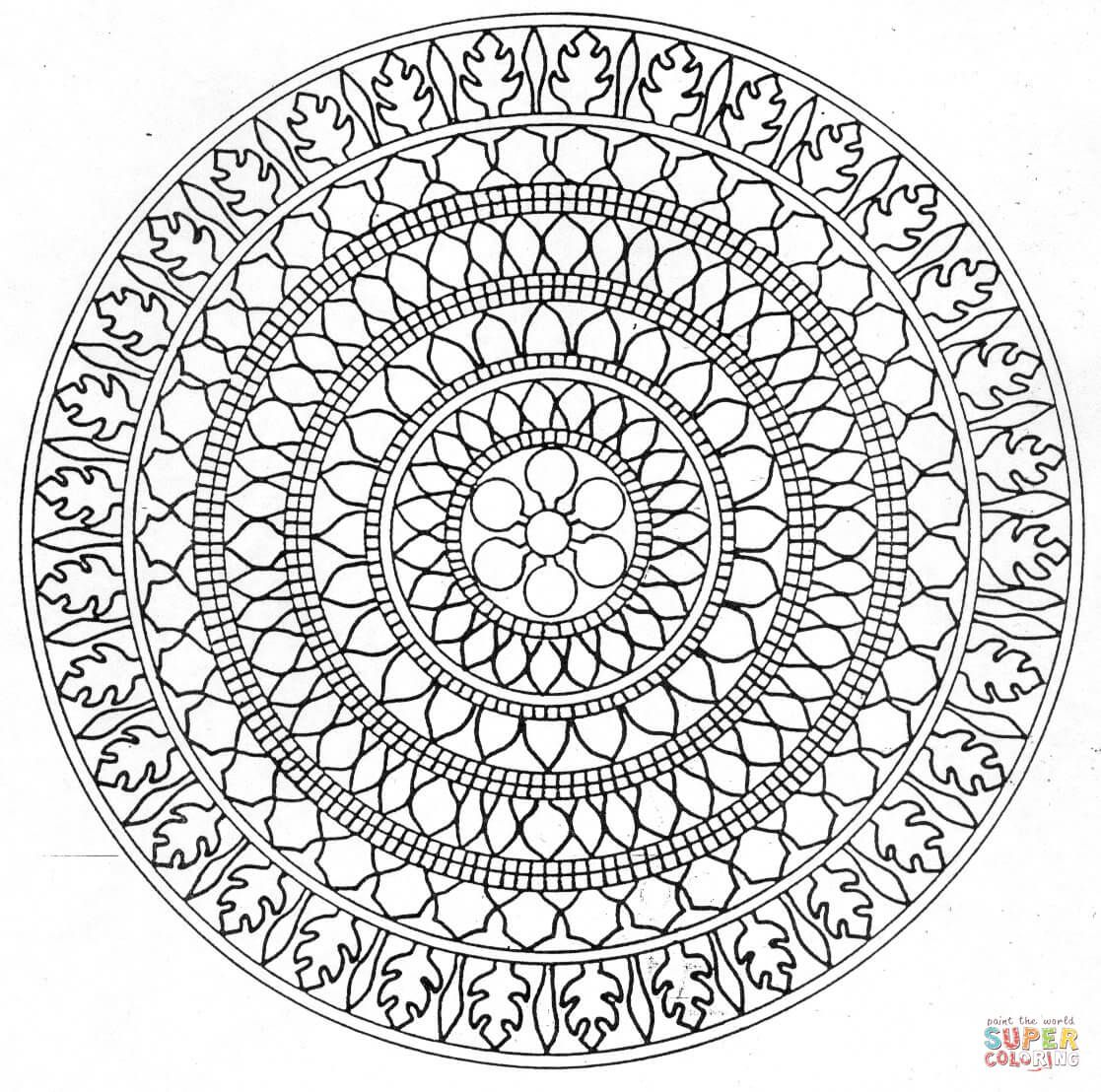 Mandala Meditation Coloring Pages