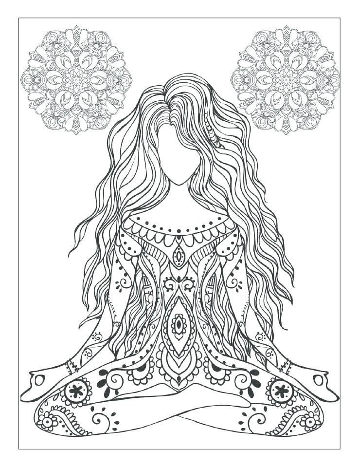 736x959 Mandala Coloring Cat Yoga Coloring Book And Mandala Meditation