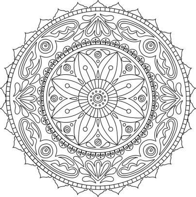 404x406 Mandala Meditation Coloring Book