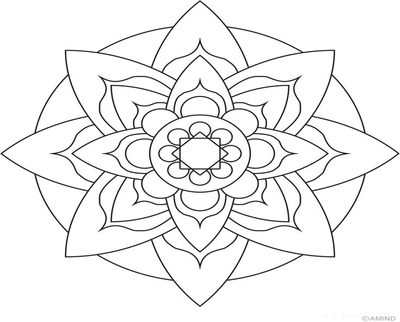 400x322 Meditation Mandala Coloring Pages Page Image Clipart Images