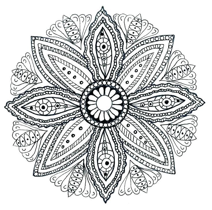 736x729 Mandala Meditation Coloring Pages Mandala Art Coloring Pages