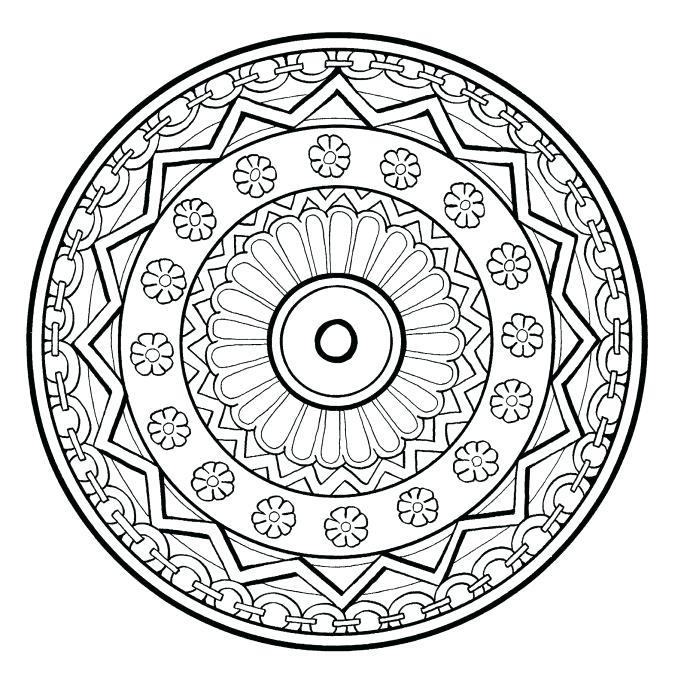 687x682 Cheerful Meditation Coloring Pages Mandala Free Printable