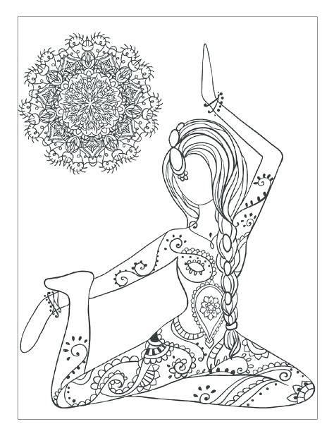 474x618 Meditation Coloring Pages